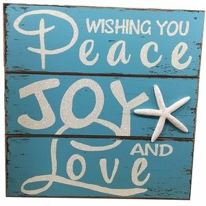 Wishing You Nautical Christmas Wall Decor